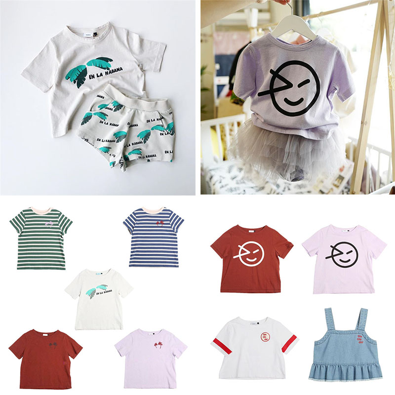 Kids T-Shirt Smile-Print Baby-Boys Tops Girls Fashion Summer Wynken for White Hawaii