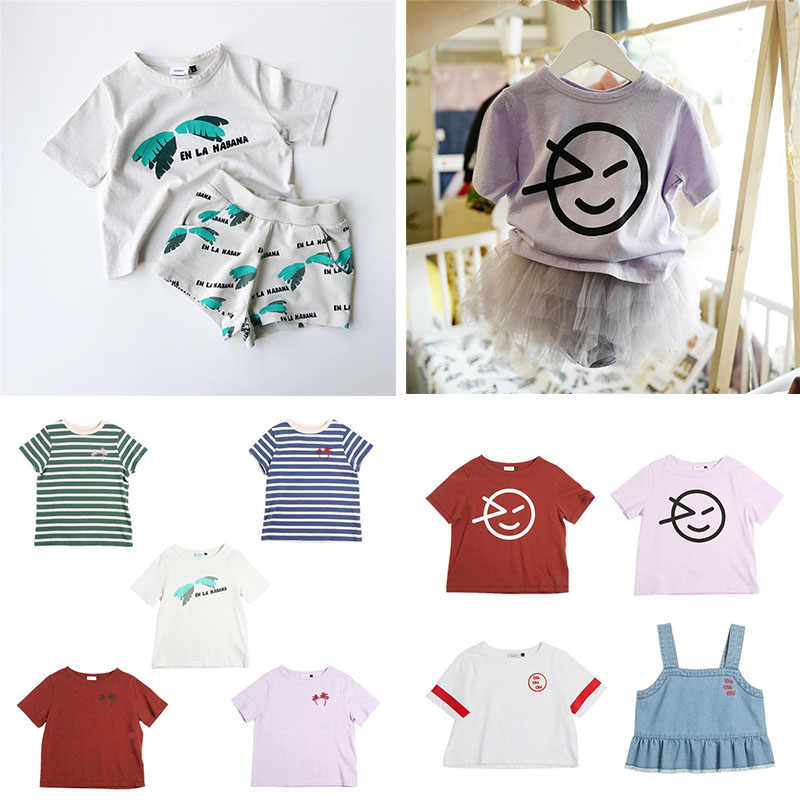 Fashion Kids T Shirt Summer Clothing wynken Baby Boys White T Shirt Girls Hawaii Clothes Smile Print Tops For Kids Boys tshirt