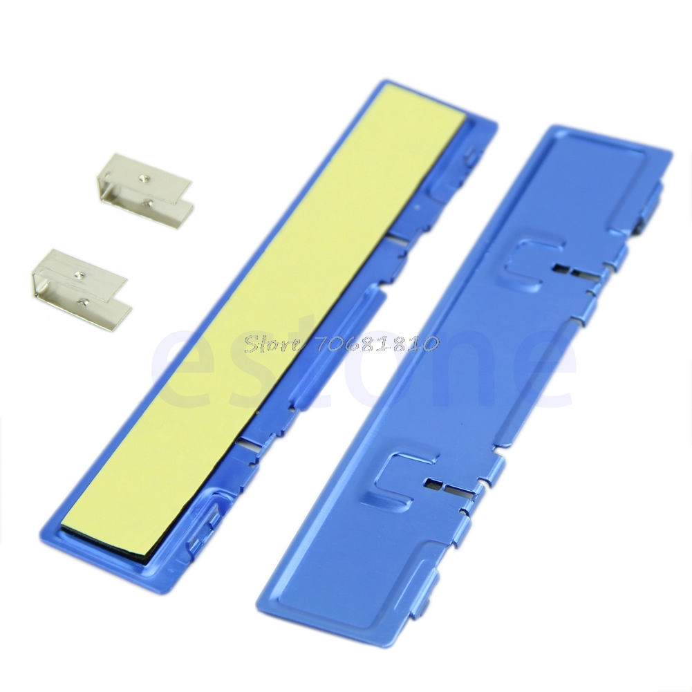 2 X DDR DDR2 DDR3 RAM Memory Aluminum Cooler Heat Spreader Heatsink Blue #R179T#Drop Shipping gdstime 2pcs high quality ddr ddr2 ddr3 ram memory heatsink aluminum cooler heat spreader heat sink golden