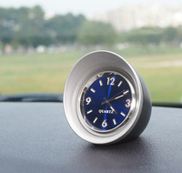 Coche Adornos 45mm luminoso cuarzo reloj creativo mini digital decoración puntero reloj automóvil decoración interior Accesorios
