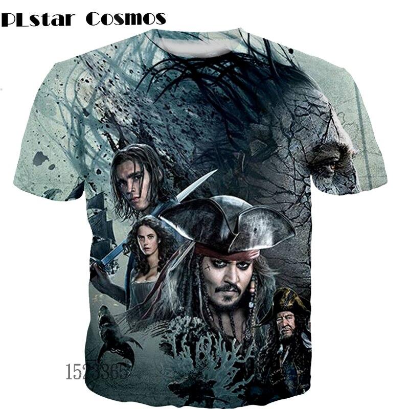 PLstar Cosmos Caribbean Pirates T-Shirt 3D Print Couple T Shirt Summer t shirts New hip hop short sleeve 2018 women/men tops
