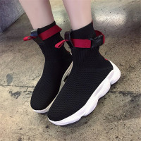 COOTELILI Women Ankle Boots Flat Platforms Shoes Woman High Heels Breathable Socks Boots Sneakers Women Shoes