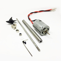 Free Shipping RC Boat Motor With Propeller Shaft Kit 380 Motor Shaft Screw Universal Joint Set