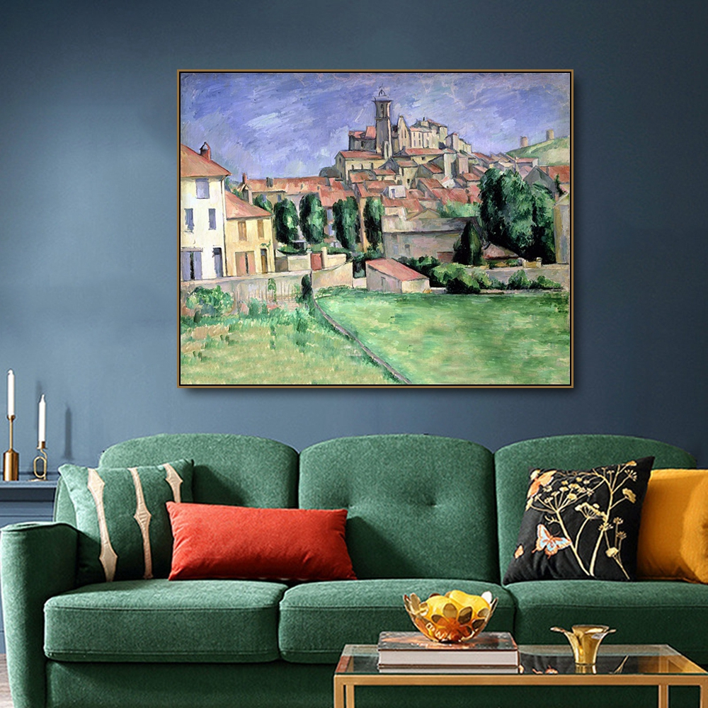 Gardann by Cezanne on Canvas Painting Calligraphy Poster Prints Living Room House Wall Art Painting Home Decoration Picture in Painting Calligraphy from Home Garden
