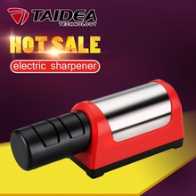 TAIDEA GRINDER Electric Knife Sharpener Diamond Steel Ceramic Sharpening Stone T1031D Two Stages Diamond Kitchen Knife EU plug