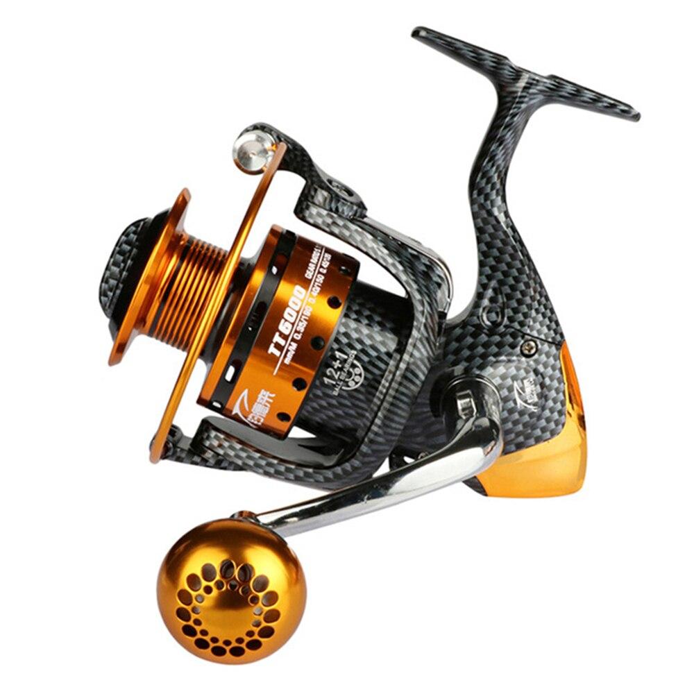 Metal Spinning Fishing Reels Long Casting Wheel 12BB + 1RB For Trolling Saltwater Fishing Tackle TT6000 Series