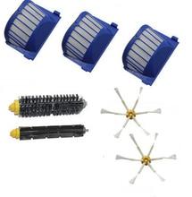 AeroVac Filter +Hair Brush + side brush kit for iRobot Roomba 600 Series 595 601 602 615 651 620 630 650 655 660 664 690