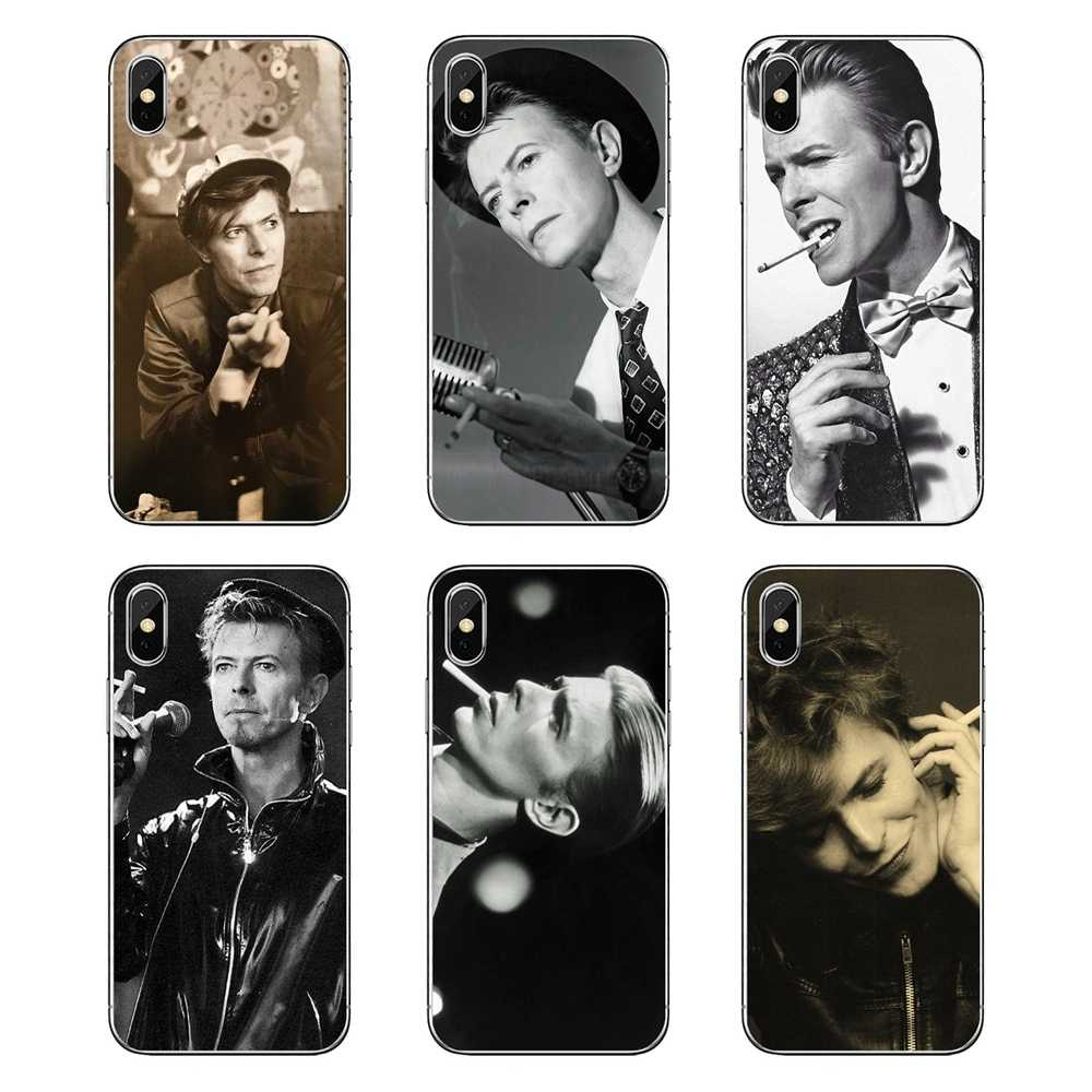 Для iPod Touch iPhone 4 4S 5 5S 5C SE 6 6 S 7 8 X XR XS Plus MAX David Bowie Smoking Glam Rock прозрачные мягкие чехлы