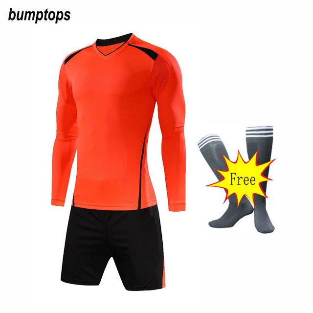 39f070589 FREE SOCKS Customized Kids Long Sleeve Sportswears DIY Youth Soccer Jerseys  Football Kits Great Quality Boys