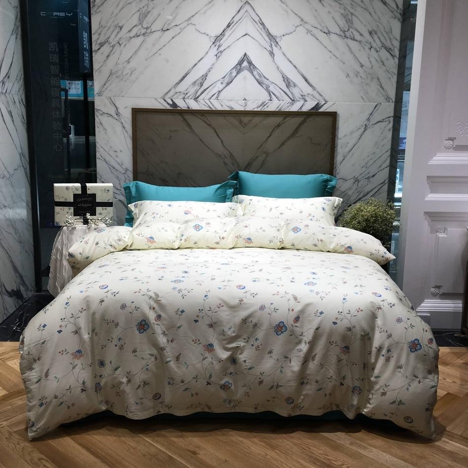 online get cheap cool sheets aliexpresscom  alibaba group - small flowers print king queen bedding set cool soft egyptian cotton bedsheet duvet cover bedding