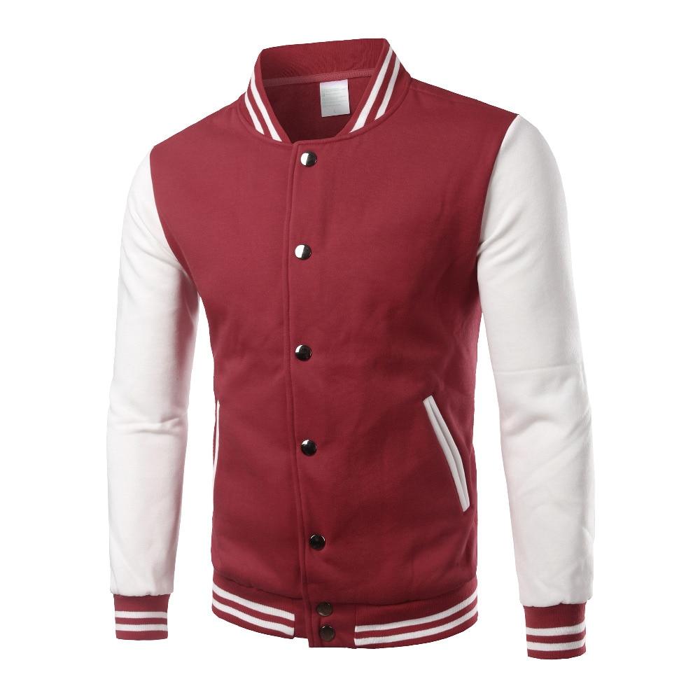 brand varsity jacket men women 2016 autumn mens fashion hit color college jackets fleece bomber. Black Bedroom Furniture Sets. Home Design Ideas
