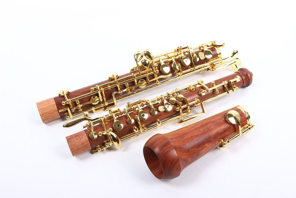 Smart Professional Oboe Rosewood C Key Left F Resonance Golden Plated Key To Be Renowned Both At Home And Abroad For Exquisite Workmanship, Skillful Knitting And Elegant Design