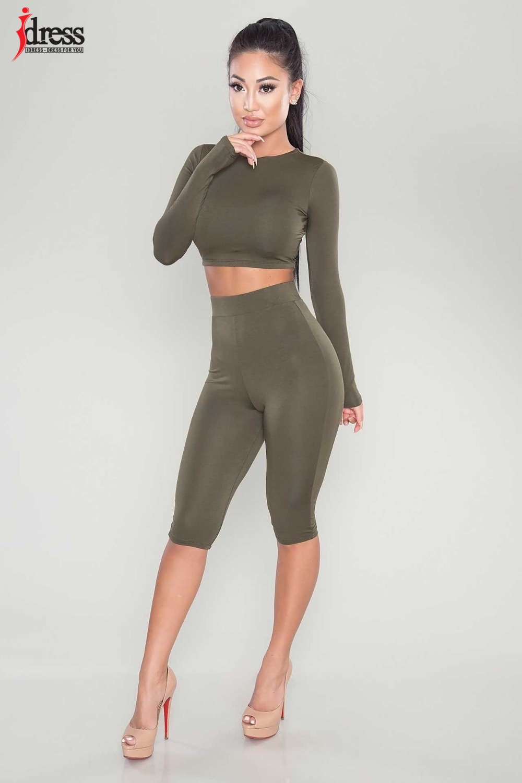 IDress Women Two Piece Bodycon Jumpsuit Playsuit New 2016 Summer Knee Length Black Bodysuit Sexy Club Elegant Rompers Womens Jumpsuit (2)