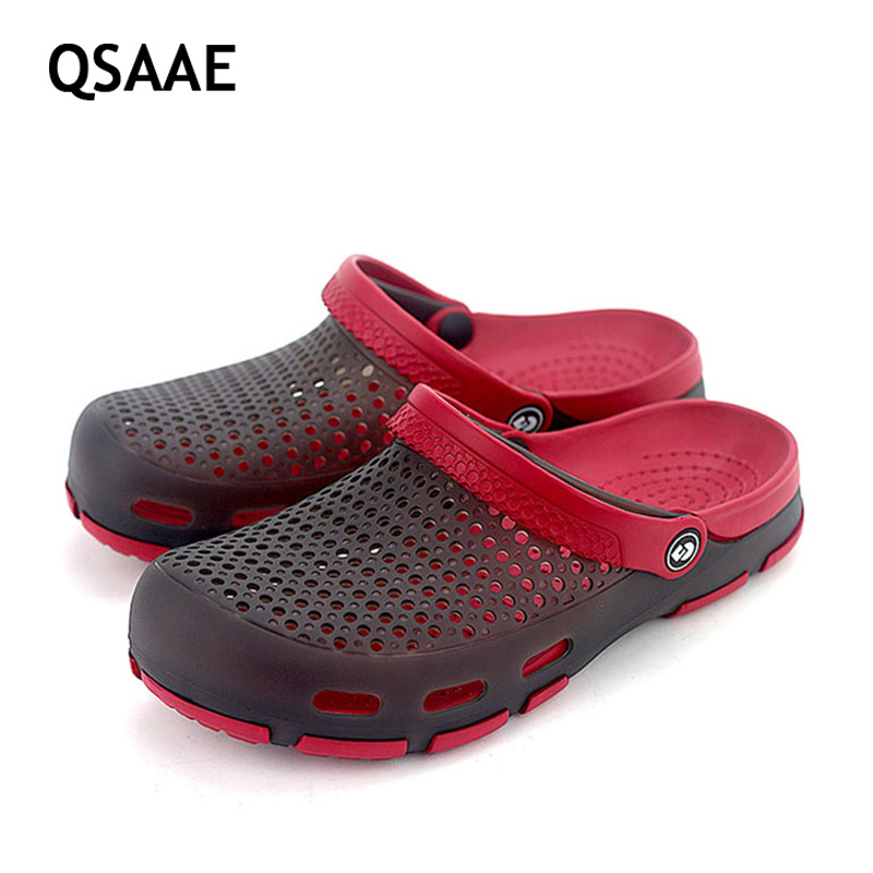 2017 New women sandals hole slippers couple sandals mules and clogs garden shoes for unisex breathable beach shoes 36-45 AF48  women slippers wholesale fashion lovers hole shoes garden nest female models sport sandals hole sandals