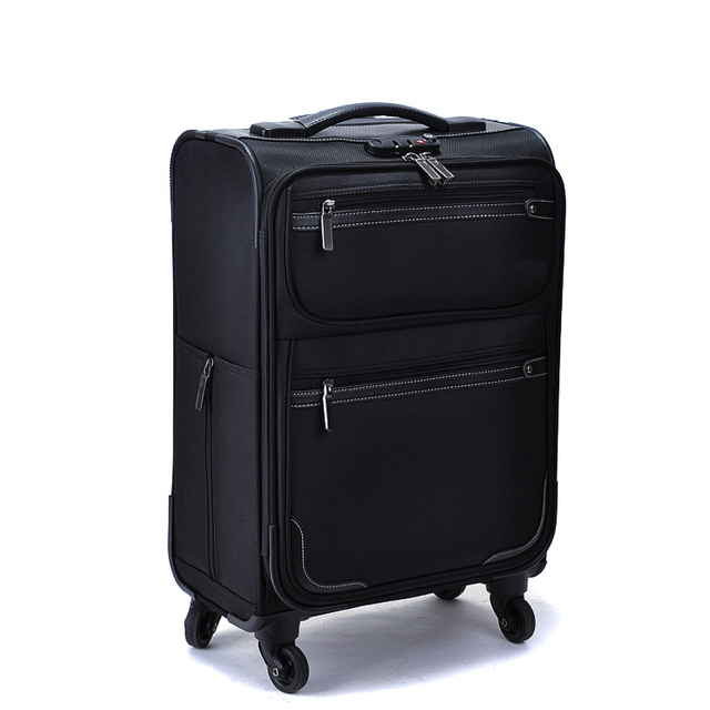 Oxford Trolley Bag Wheeled Luggage Vintage Large Rolling Travel Bag 22 Inch Suitcase Sack Spinner Men/Women Luggage Vkystar 007