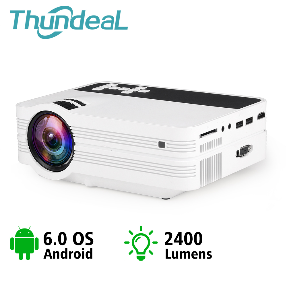 UB10 ThundeaL Mini Projetor Android Wi-fi 3D LEVOU Projetor 2000 Lumens Home Theater TV LCD Suporte de Vídeo USB VGA 1080 P HD Beamer