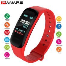 PANARS Smart Watch Mens IP68 Heart Rate Monitor Waterproof Bluetooth Smartwatch For Android IOS Men Women Silicone Wristwatches