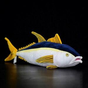 Image 1 - 40 センチメートル実生活マグロぬいぐるみリアルな海の動物魚ぬいぐるみ子供のためのぬいぐるみのおもちゃ & ホビー