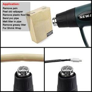 Image 5 - NEWACALOX 2000W 220V Spina di UE Industriale Elettrico Pistola Ad Aria Calda Termoregolatore LCD Pistole di Calore Shrink Wrapping di Riscaldamento Termico ugello