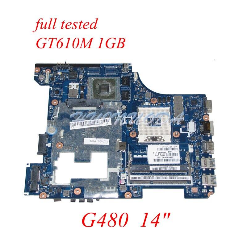 все цены на NOKOTION QIWG5_G6_G9 LA-7981P Laptop Motherboard For Lenovo G480 11S900001 HM77 DDR3 GT610M Video Card 1GB Main board 14''
