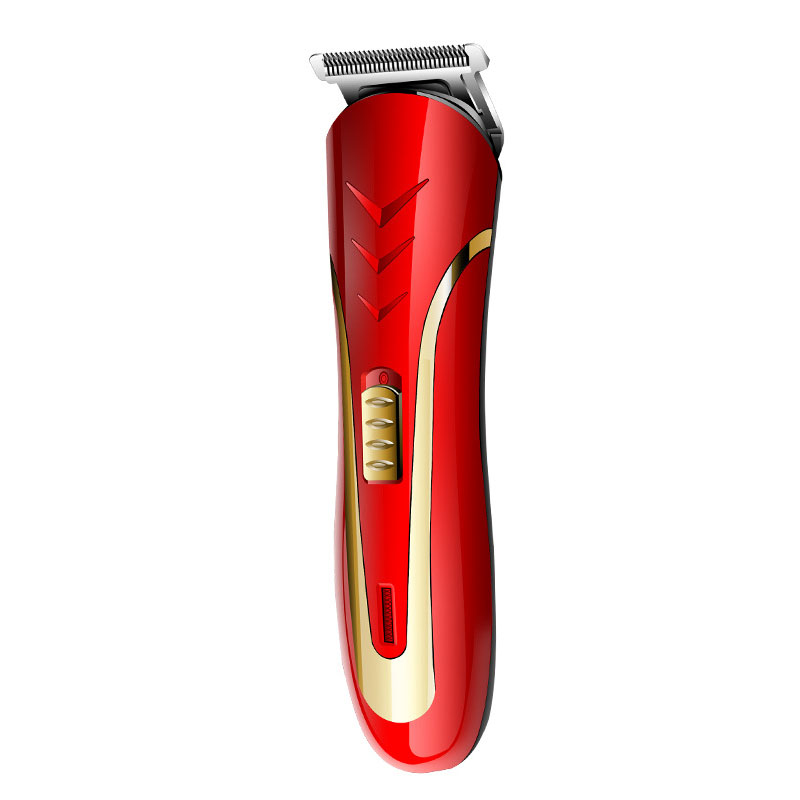 Kemei KM-1409 110-220V 50/60Hz red ABS Electric Hair Clipper Hair Trimmer Men professional rechargeable rechargeable hair clipper with accessories set 220 240v ac