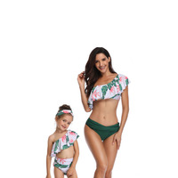 2019 New parent child bathing suit flying mother and daughter swimsuit family look matching clothes outfits mom baby dress