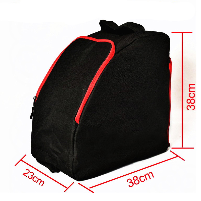 Adult Thick Professional Ice Ski Snow Boots Bag Helmet Big Portable Carry Waterproof Shoulder Bag For