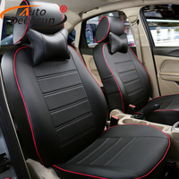 AutoDecorun Custom fit seat cover set for VW Volkswagen Phaeton seat covers leather seats split bench airbag compatible cushion