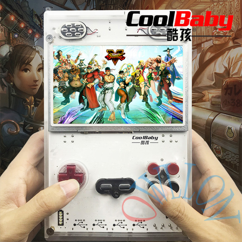 DIY 5.0 Inch HD Screen Handheld Game Player with Raspberry pi Compute Module 3 Lite Game console Built-in Over 15000 Games 023