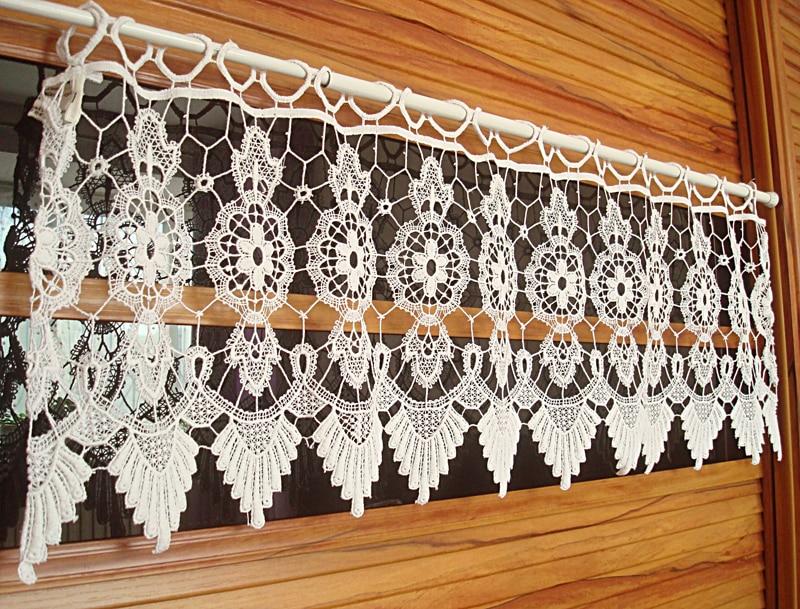 crochet kitchen curtain white decoration kitchen curtain