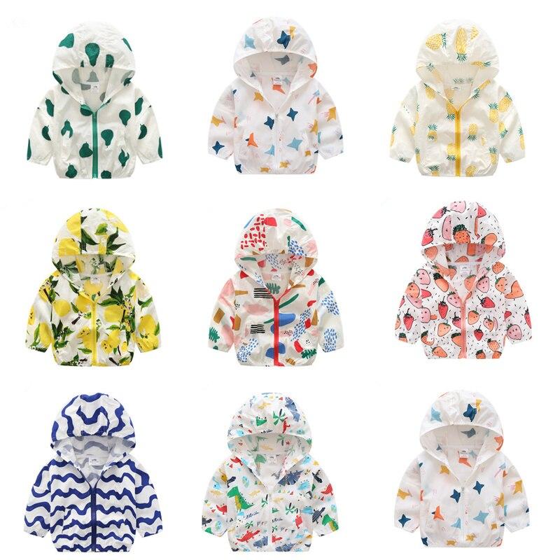 Детские с принтом защиты от солнца 2018 летняя одежда в Корейском стиле новый мальчик девочек кондиционер рубашку пальто