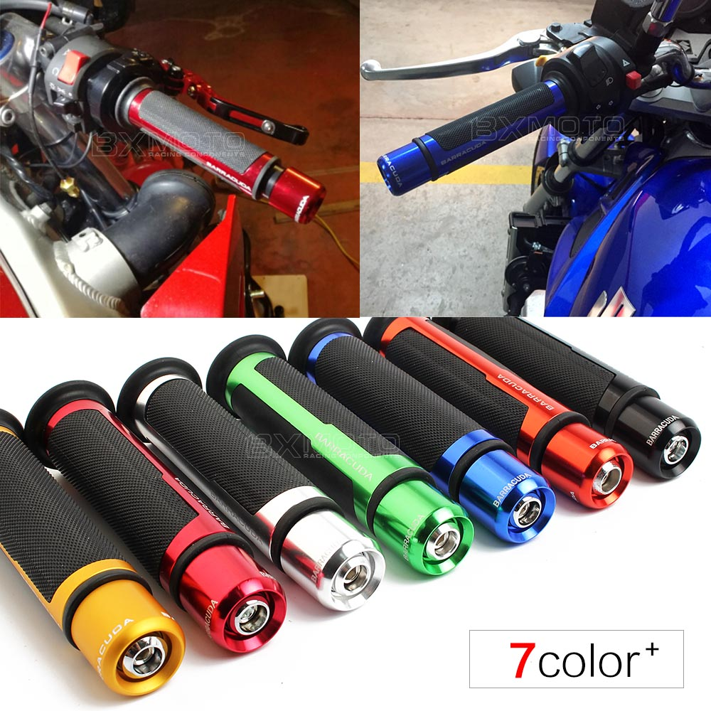 7/8'' Motorcycle Handle CAPS / Handlebar Grips CNC 22MM Universal Street & Racing Moto Racing Grips accessories parts for ducati skull heads pattern rubber motorcycle racing handlebar grips blue pair