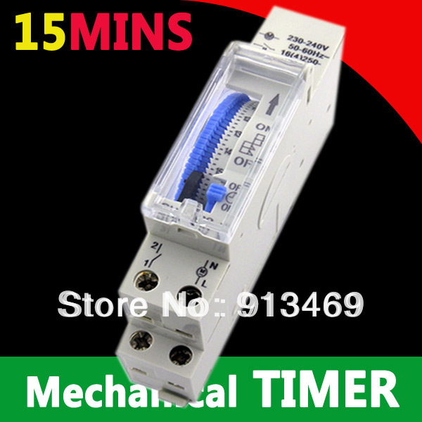15 Minutes 24 Hours Mechanical Timer Switch 230vac Analogue Time Relay egg shaped stainless steel mechanical twist timer 60 minutes