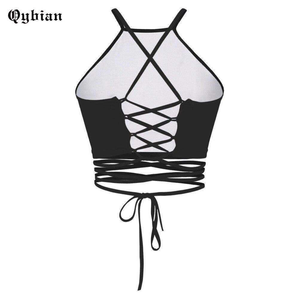 2016 Crop de Blouses Femmes Femme Vêtements dans cropped Femme Tops Gilet Sexy Licou Top Soleil impression Débardeurs Femmes Encolure Sourire Mode Tops fg76yYb