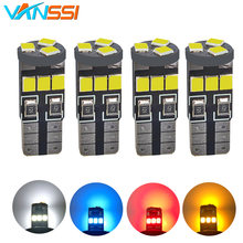 VANSSI 4pcs T10 W5W 168 2825 194 9SMD LED Bulbs for Car Interior Dome Map Trunk Cargo Door Courtesy Lights Bulbs DC12V(China)