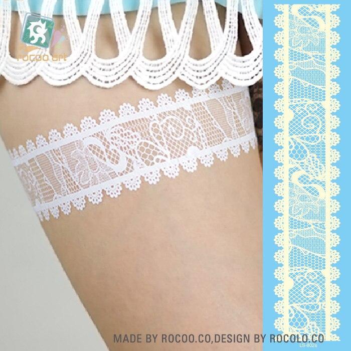 LS802e/White Lace Natal Flash de Tatuagens Temporárias Tatuagens Body Art Adesivos Tatuagens Temporárias Kylie Cosméticos de Maquiagem para As Mulheres