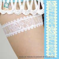 LS802e/dentelle blanche tatouages temporaires de noël tatouages Flash autocollants d'art corporel tatouages temporaires maquillage pour femmes Kylie cosmétiques