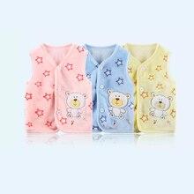 Хлопковый жилет для новорожденных; зимний жилет для маленьких девочек; детский жилет; теплый кардиган; утепленный жилет