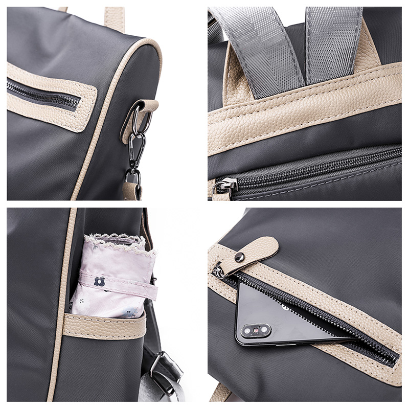 2018 Casual Oxford Backpack Women Black Waterproof Nylon School Bags for Teenage Girls High Quality Fashion Travel Tote Backpack in Backpacks from Luggage Bags