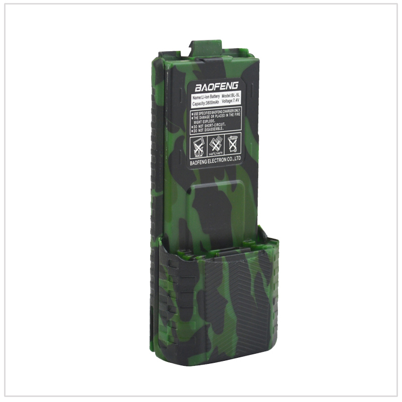 Camouflage UV-5R Radio Baofeng talkie walkie Li-ion Batterie 3800 mAh 7.4 V pour UV-5R, UV-5RA +, UV-5RB, UV-5RC, UV-5RD, UV-5E, TYT TH-F8