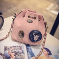 stacy bag 062916 hot sale lady small fashion shoulder bag girl mini bucket bag