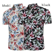 Zogaa Hot Sale 2019 Mens Fashion Floral Print Shirt Casual Slim Fit Long Sleeve Business Social Shirts Size S- XXXL