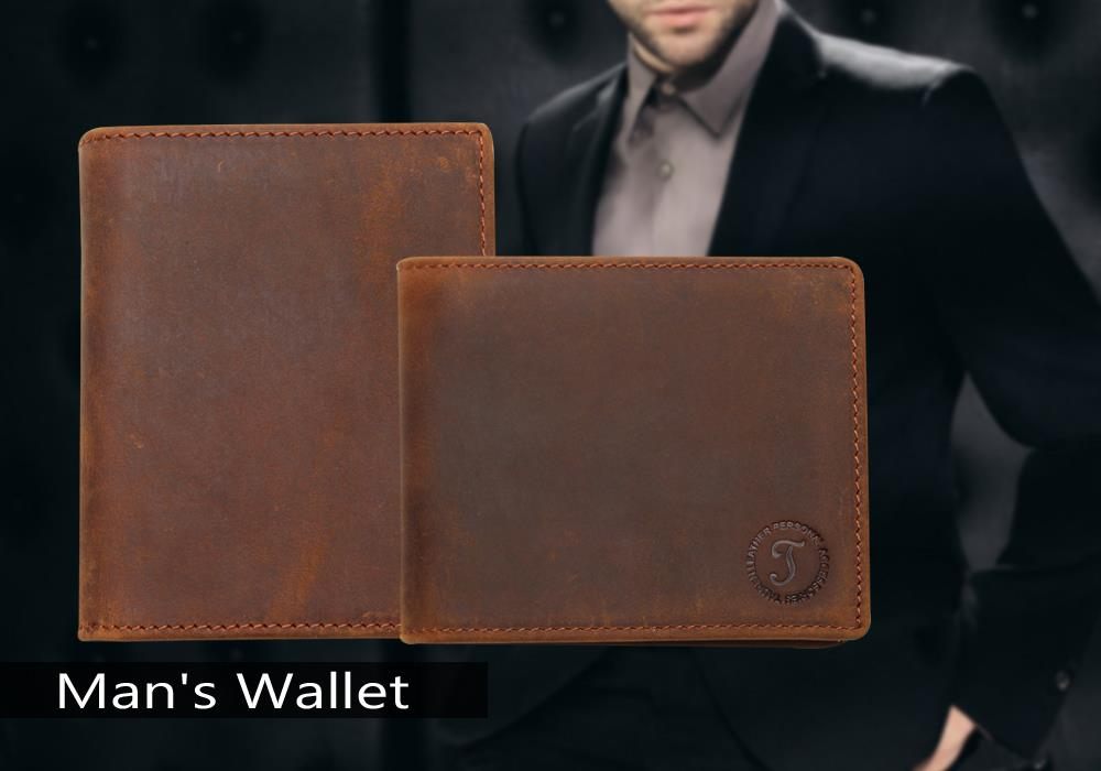 Topdudes.com - Handmade Genuine Cowhide Leather Vintage Multi-Functional Wallet