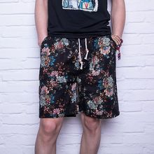 2018 Summer Casual Shorts Men Trousers Male Camouflage Fashion Flowers Print Straight Short Beach Mens Clothing Y6