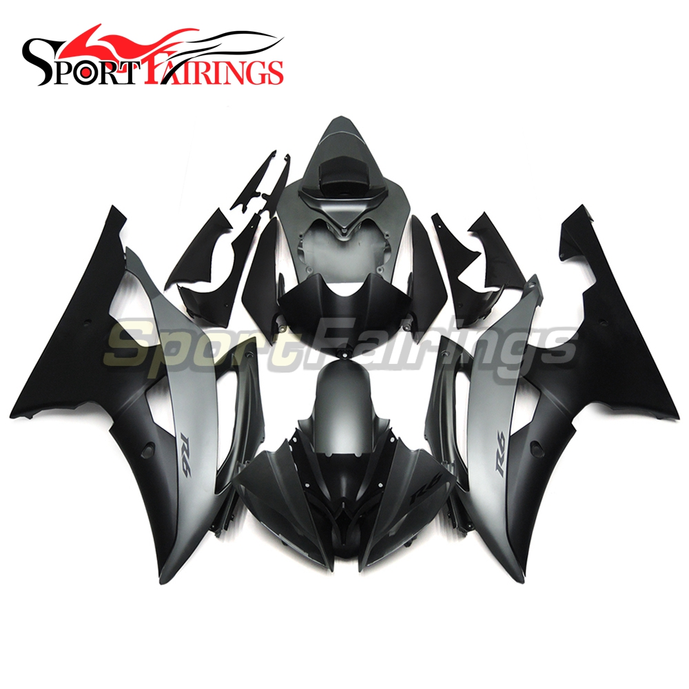 Fairings For Yamaha YZF R6 08 09 10 11 12 13 14 15 YZF R6 2008 2009 2012 2014 2015 ABS Motorcycle Fairing Kit Black Grey Carene