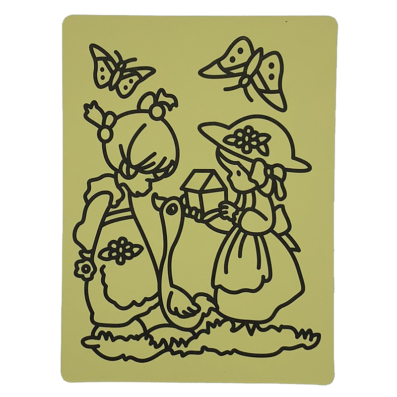 Free shipping  600pcs/lot-  sticker cards for Color Sand art_20x28cm magic sand art sticker cards hot selling