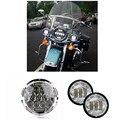 7 Polegada Da Motocicleta Projetor Daymaker Hi/Lo LED Light Bulb Farol DRL lâmpada Para Harley LEVOU Auxiliar Passagem para Harley Davidso