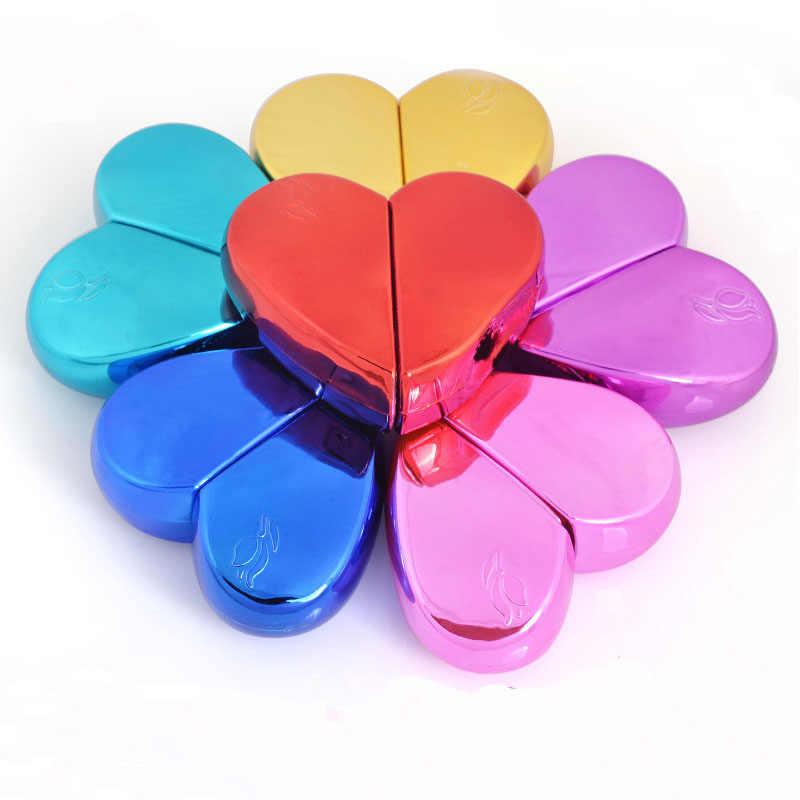 Parfüm Şişesi Alüminyum Konut Boş Cam Astar pompalı sprey şişe Kalp Şekli Atomizer Toner Sıkılaştırıcı Doldurulabilir Şişeler 20 ML