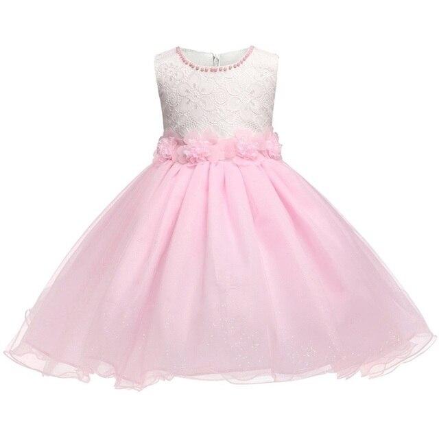 Dulce princesa Rosa marca Vestidos de flores de niña partido ...