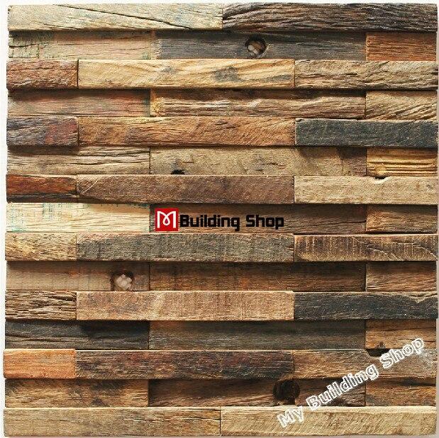 Natural Wood Mosaic Tile Nwmt048 Mosaics Kitchen Backsplash Ancient Wall Tiles